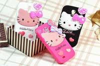Cellphone case for samsung galaxy s4 i9500 silicon hello kitty face case free shipping