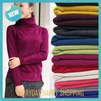 long sleeve women turtleneck sweater,new winter warm blusa,pullovers cardigans 2014 women fashion