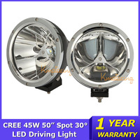 2x AWD Round Cree Offroad Light 45W 4X4 LED Work Light ATV UTV 12V/24V Car boat Light 4WD Spot 30 Degree Truck 4500lm 3X15W
