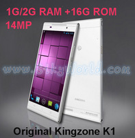 Original phone Kingzone K1 MT6592 Octa Core 14.0MP 5.5'' 1920*1080 Wifi-display 2GB/1GB 16GB Android 4.3 NFC cell phone