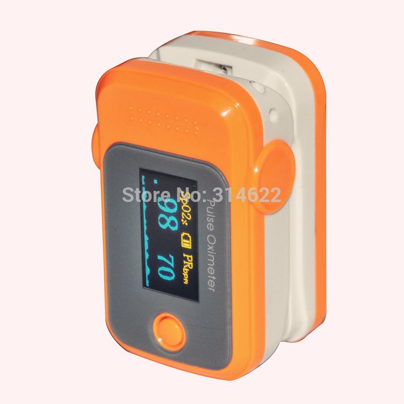 Health Care Blood Oxygen SpO2 Saturation Monitor Fingertip Pulse Oximeter Orange