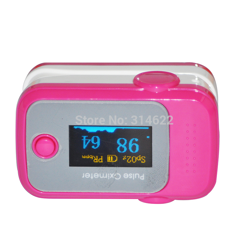 Health Care Blood Oxygen SpO2 Saturation Monitor Fingertip Pulse Oximeter Rosered