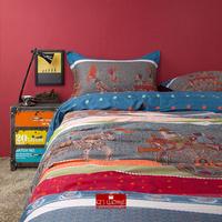 2014 Winter home textile 100% cotton Exotic Egypt fresco printed 4 pcs bedding set quilt cover duvet cover bed sheet king queen