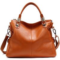 Classic Fashion Leather Women handbag Natural Cowhide Shoulder Messenger Bag Handbag For Ladies Russia Europe Style Hot Sale Bag