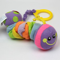 0~12 month classic shock pacify caterpillar animal soft cartoon baby lathe hanging plush toy teether rattle mobile toy 2pcs