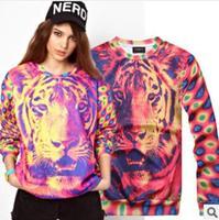 Women Sweatshirts 2014 Tiger Pullovers 3d Printed Moleton Feminino Hoodies Plus Size Casual Tracksuits Pullovers Women Hoody