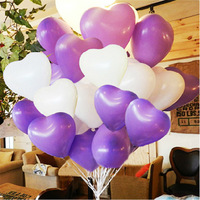 Free shipping 100pcs/packing Latex Helium Thickening Pearl Wedding&Party DecoratIon Supplies Heart Balloon Multicolor