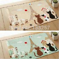 free shipping WHS 1pcs Paris cat carpet mats doormat bathroom mat bay window mat Non-slip mats60X40CM
