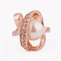 Free shipping 2014 wedding womens fashion rings atacado de bijuteria white gold jewelry brand pear tension setting