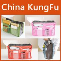 Bag In Bag Double Zipper Portable Multifunctional Travel Pockets Handbag Storage Bag Fadish Travel Cosmetic Makeup Wash Bag