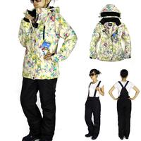 2014 Fashion Women Ski Suit Sets Windproof Waterproof Winter Ski Jacket+Pants Warm Breathable Waterproof Free Shipping