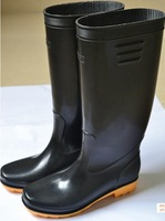 Free shipping Men's Classic Black Rain boots,  men's waterproof Tall canister boots, EUR 40-44