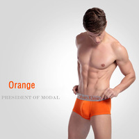 1pcs Brand Sexy Cotton Men's Boxers Underwear Silver Belt Orange Laranja Size L Orange Storm  CK001-O-L