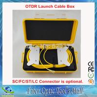 Fiber Optic OTDR Tester Launch Cable Box  1km Singlemode 1310/1550nm