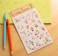 Free ship 1lot=10set/korean stationery kawaii Lovely Bunny diary posted  PVC sticker / Cartoon Rabbit  DIY stickers toy stickers