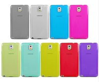 FREE SHIPPING by DHL 1000pcs/lot 9 colors Clear Transparent Soft Rubber skin cover for Samsung Galaxy Note 3 III TPU Phone case