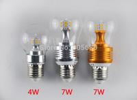 E27 E14  4W 7W LED Corn Bulb led bulb lamp Light  360 degree chandelier 220V or 110V