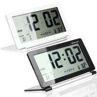 Digital Large LCD Display Travel Desk Alarm Clock Time Date Thermometer Calendar Snooze