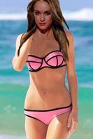 2014 Swimsuit Sexy Swimwear Women Vintage Neoprene Bikinis Swimsuit Set Bikini Set Top Quality Push Up  Bathing Suit