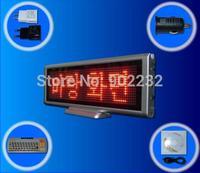 Free Ship/1PCS/SC1664R/LED digital board/p4mm/Table Mini/Multimedia LED/USB COM/Rechargeable Electronic Sign/Meeting Desk Screen