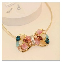 Min order is $10(mix order)New arrived Large bow necklace fashion necklace for women 2014 choker pendant necklace XL628