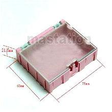 10pcs/lot Pink Kit Electronic Components Boxes Patch Parts Interlocking Storage Box SMT SMD Kits Lot(China (Mainland))