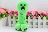 Free Shipping green 19cm Genuine JJ dolls stuffed plush minecraft creeper coolie afraid of plush toys of my world