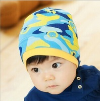 1 pc New fashion Infant toddler cotton cap camouflage style baby beanie hat Kids Children boys girls hat Free shipping H561