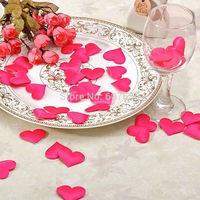 Heart Shape Wedding Petals Hand Throwing Flowers Party Favor Wedding Decorative Flower Room Decorate 25pcs/pack 500pcs/lot