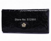FREE SHIPPING,new arraival 100% Genuine Leather Wallets,Paris Brand Women Wallets Zipper card cash large capacity Women Purses08