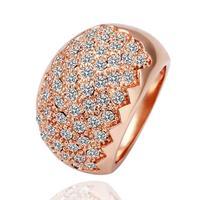 Classic Rhinestones Studded Finger Rings For Women Wedding Rings 18k Gold Luxury Brand Hot