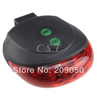 Wholesale Retail new Bike Bicycle Laser Light Taillight  with 5LEDs & 2Laser MTB Rear light, 5 Led Safe Warming Modes