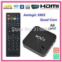 Amlogic Quad Core 2.0GHz MINI PC 4K Video MXIII S802 Android 4.4 Miracast DLAN 2G 8G TV Box 2.4GHz/5GHz dual band wifi MX III