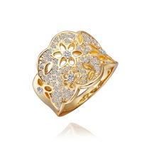 Hot Selling Elegant Vintage Ring Punk Jewelry Fashion Gothic Gold Hollow Out Flower Rings for Women