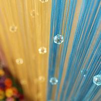 Romantic Bead String Line Door Window Curtain Room Panel Divider Curtain Scarfs