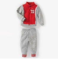 (K7)Free shipping Hot Sale 2pcs/set Kids Baby brand Suit Boys Girls Long Sleeve coat+ Pant Sport Clothes Children Clothing