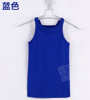Wholesale summer brief girls clothing baby solid strap vest t-shirt K1902 5pcs/lot