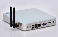 Strongest specs fanless celeron 1037u mini pc 12v supports wifi full HD 1080P ubuntu, openelec, xbmc, etc. 2GB RAM 64GB SSD