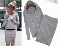 Women Sweatshirt 2014 Pullover Moleton Feminino Tracksuits Clothes Set 2 Pieces Casual Hoodies Plus Size Sport Suit Women