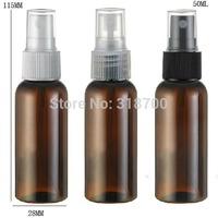 Free shipping - 50/lot 50ml Amber PET Perfume Bottle, 50cc Mist Spray Bottle, 50ml Fragrance Perfume Bottle