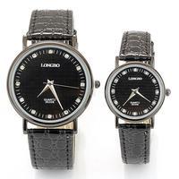 Free shipping wholesale LONGBO lovers watch brand leather strap quartz analog watches waterproof fashion crystal rhinestone
