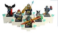 New 6 Sets Minifigures Legends of Chima Series Building Blocks Toys Mini Figures