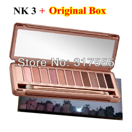 new 2014 brand naked palette eye shadow 12 color nk 3 eyeshadow palette professional makeup Wholesale Drop Shipping(China (Mainland))