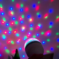5pcs RGB LED bulb power 3W Mini Rotating Crystal Magic Ball Effect Digital Light Disco DJ Party Good quality rgb lamp 110-240V