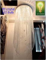 Chandelier Crystal K9 LED Light Free shipping+led bulb GU10 European Design Living room hotel Foyer Save Energy Export Quality