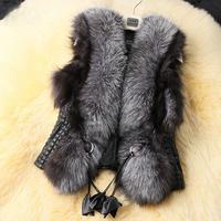 Fashion Girls Lady Women Warm Faux Fur Vest Outerwear Coat Jacket waistcoat Tops