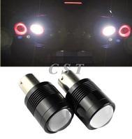 2x Super bright 1156 BA15S 7W Car Automobile Wedge LED Reverse Light Bulb Turn Signal Lamp Backup White Lights reversing