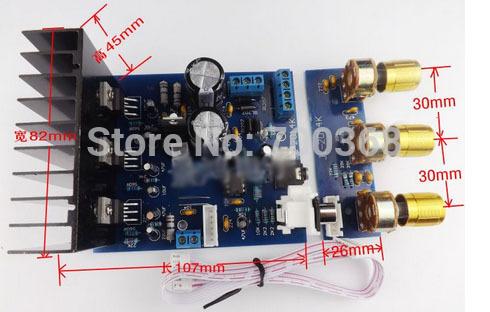 5 set/lote 12VAC TDA2030A subwoofer placa amplificadora kit eletrônico Kits 2 * 18 W + tda2030 baixo knob(China (Mainland))