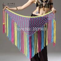 Belly Dance Waist chain Dancing Hip Scarf Triangle tassel Shawl Dancewear Costumes