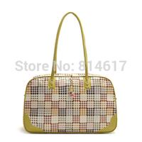 2014 woman's large capacity waterproof PU leather Cartoon travel bag cross body handbag luggage online free shipping